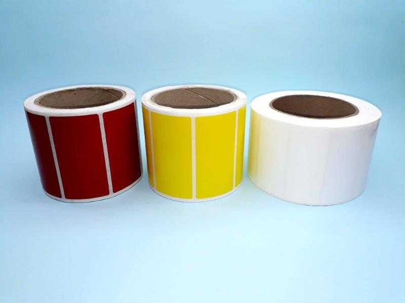 Etiquetas adesivas coloridas
