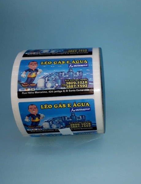 Rolo de etiquetas adesivas personalizadas